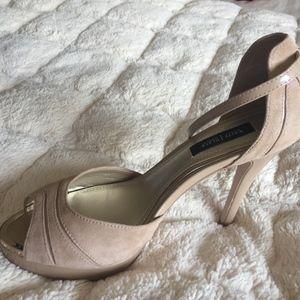 Light Tan suede high heels
